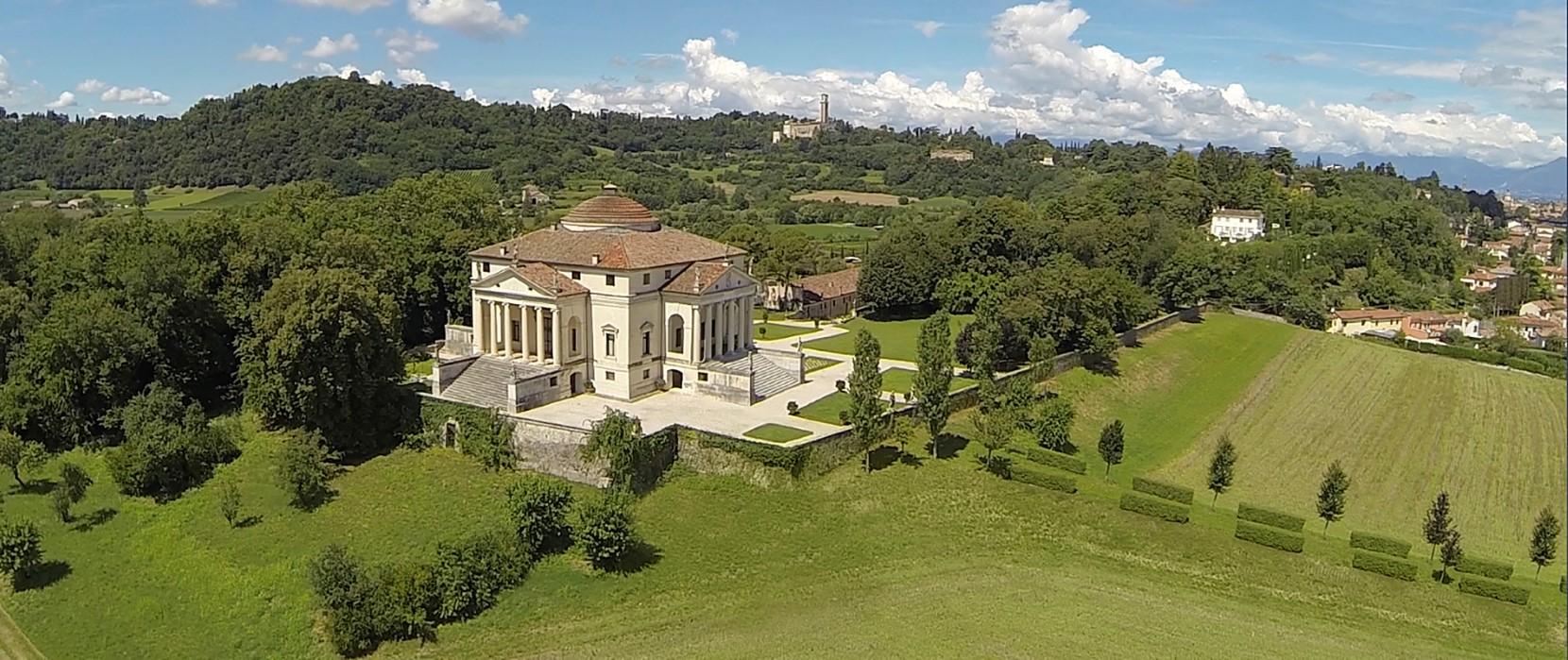foto Villa Rotonda con drone vicenza vajenti 06