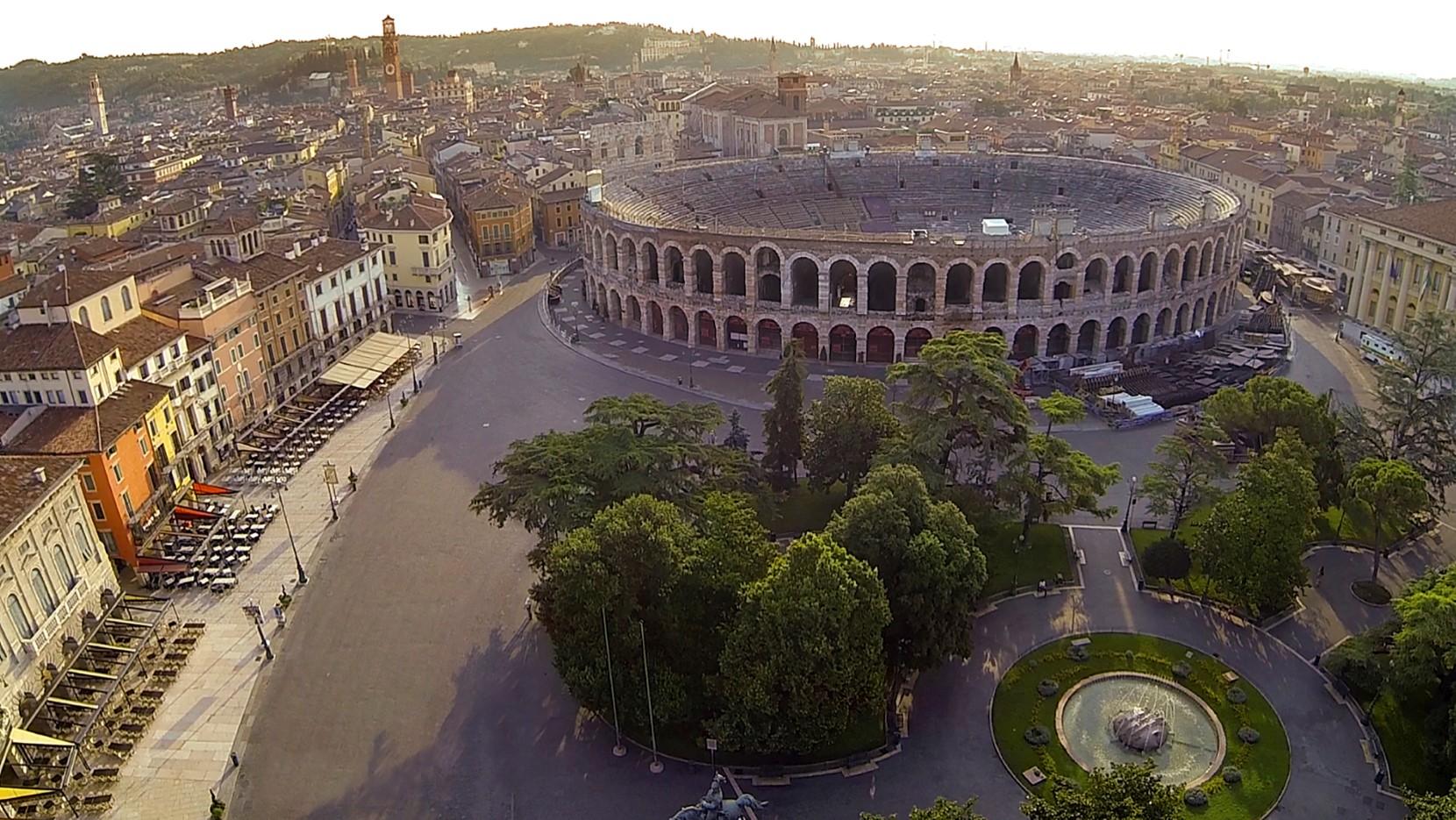 foto con drone arena Verona vajenti 04